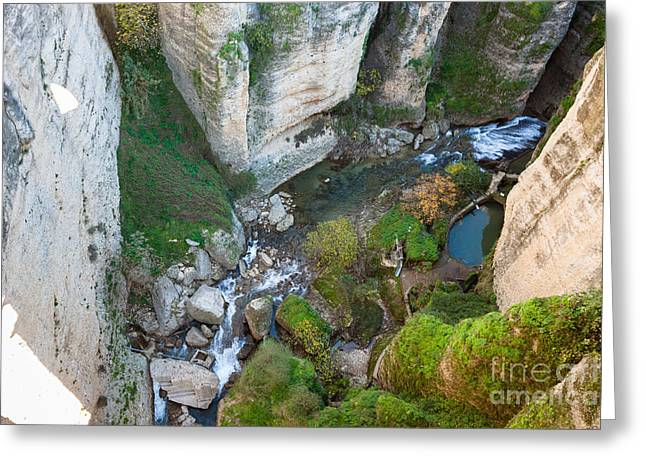 Outlook Greeting Cards - Lookout in Ronda Greeting Card by Jan Mika