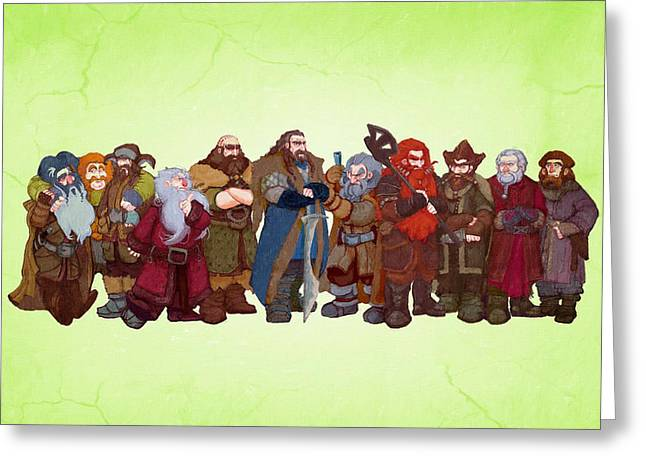 Lord Of The Rings Greeting Cards - Lord Of The Rings Artwork Greeting Card by Victor Gladkiy