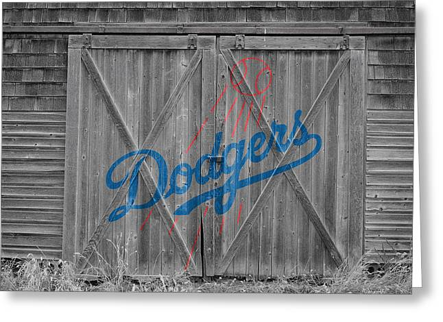 Dodger Stadium Greeting Cards - Los Angeles Dodgers Greeting Card by Joe Hamilton
