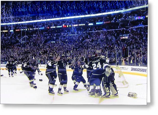 Staples Center Greeting Cards - Los Angeles Kings Greeting Card by RJ Aguilar