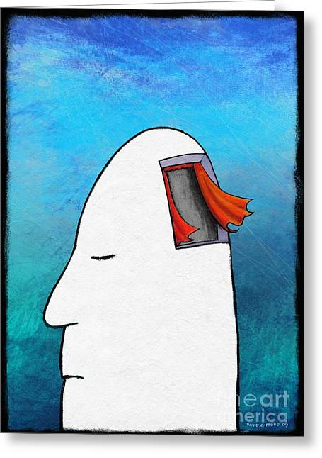 Psychological Space Greeting Cards - Lost Your Mind, Conceptual Artwork Greeting Card by David Gifford