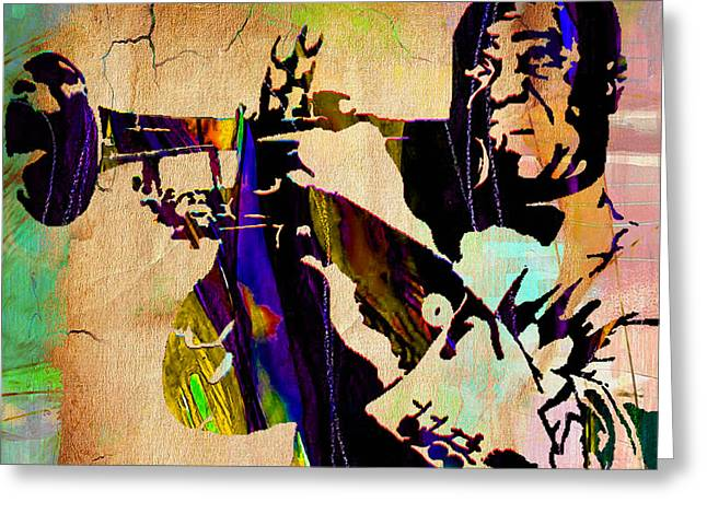 Louis Armstrong Collection Greeting Card by Marvin Blaine
