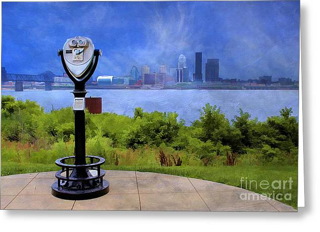 River Scenes Greeting Cards - Louisville Kentucky Greeting Card by Darren Fisher