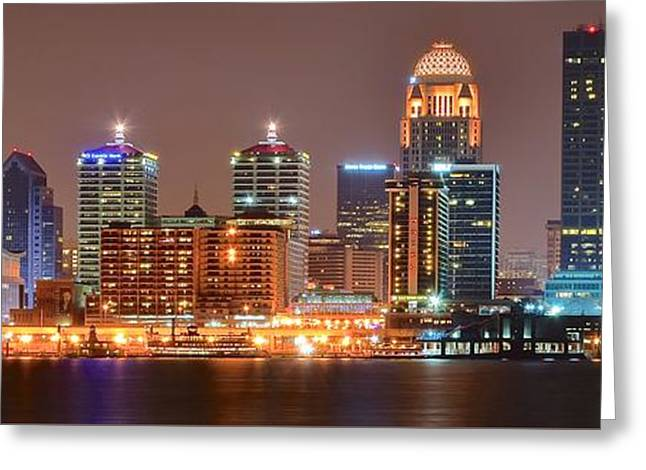 Louisville Panoramic View Greeting Card by Frozen in Time Fine Art Photography