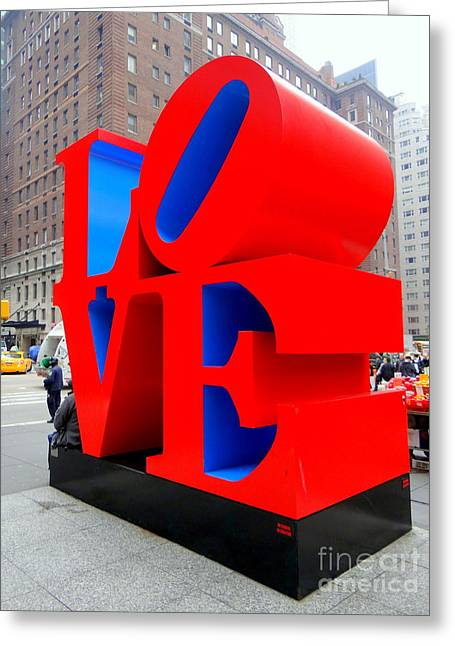 Hippie Sculpture Greeting Cards - Love Greeting Card by Ed Weidman