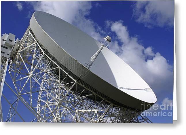 Lovell Radio Telescope Greeting Card by Mark Williamson