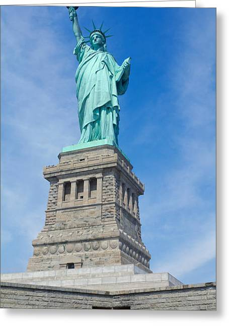 Female Likeness Greeting Cards - Low Angle View Of A Statue, Statue Of Greeting Card by Panoramic Images
