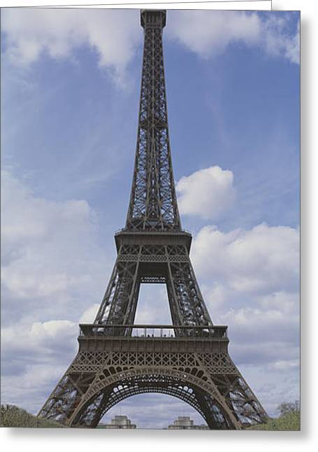 Gustave Photographs Greeting Cards - Low Angle View Of A Tower, Eiffel Greeting Card by Panoramic Images