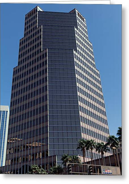 Road Travel Greeting Cards - Low Angle View Of An Office Building Greeting Card by Panoramic Images