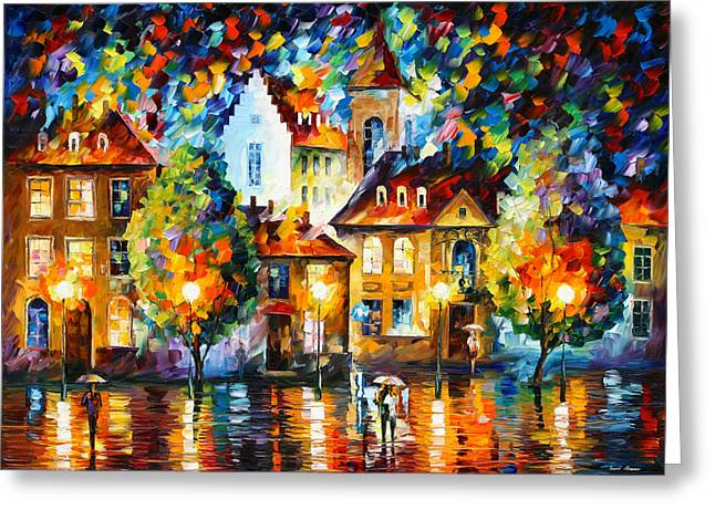 Home Owner Greeting Cards - Luxemburg Night Greeting Card by Leonid Afremov