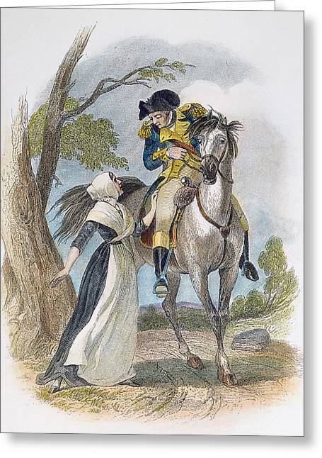 Apron Greeting Cards - Lydia Darrah, 1777 Greeting Card by Granger