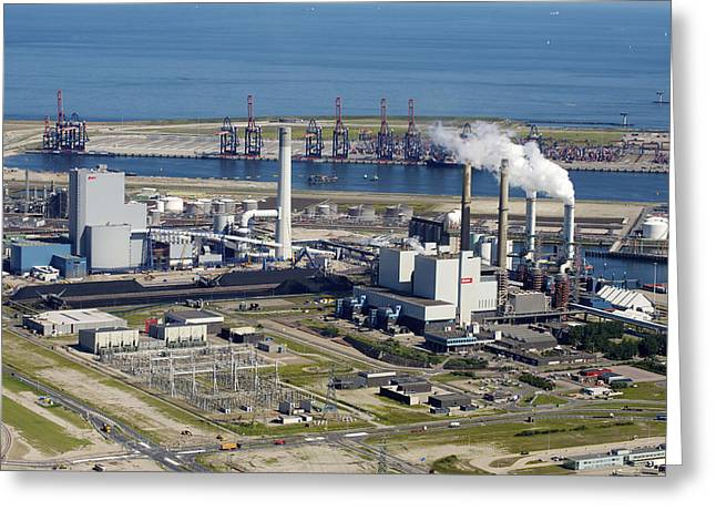 Maasvlakte, Europort, Rotterdam Greeting Card by Bram van de Biezen