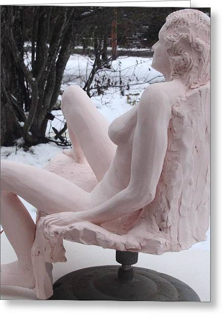 Stoneware Sculptures Greeting Cards - Maggi Jane Greeting Card by Robert Buono
