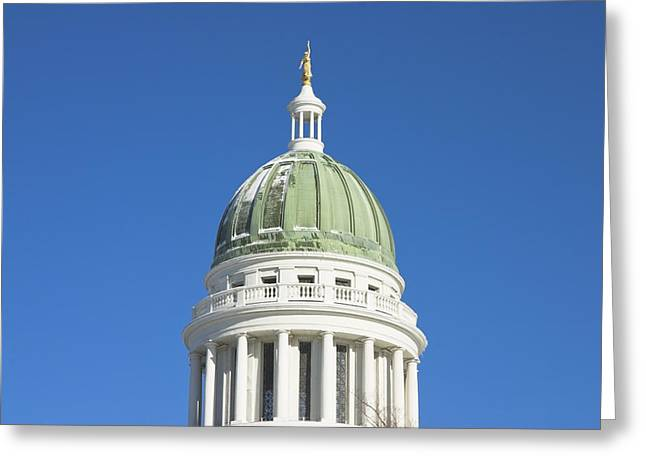 State Capitol Greeting Cards - Maine State Capitol Building In Augusta Greeting Card by Keith Webber Jr