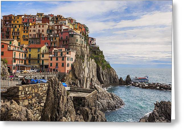 Manarola Greeting Card by Joana Kruse