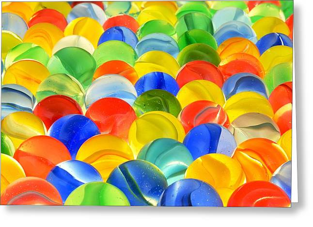 Kid Photographs Greeting Cards - Marbles Greeting Card by Jim Hughes