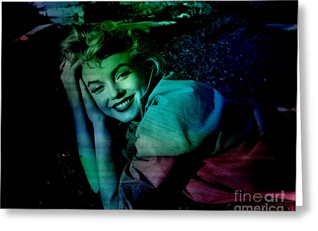 Image Greeting Cards - Marilyn Monroe Greeting Card by Marvin Blaine