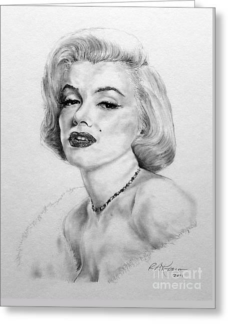Kaelin Drawings Greeting Cards - Marilyn Greeting Card by Roy Kaelin