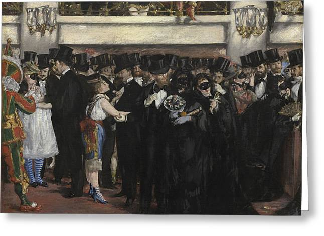 Party Greeting Cards - Masked Ball at the Opera Greeting Card by Edouard Manet