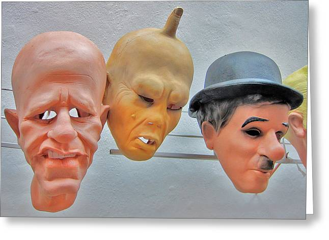 Prague Castle Digital Greeting Cards - Masks. Next To Charles Bridge. Prague. Czech Republic. Greeting Card by Andy Za