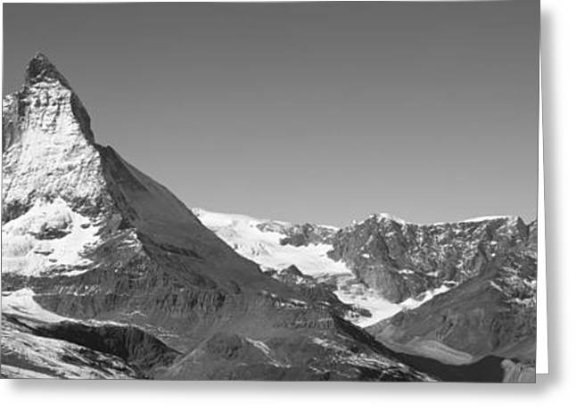 Snow Capped Greeting Cards - Matterhorn Switzerland Greeting Card by Panoramic Images