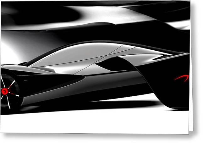Ev Greeting Cards - McLaren JetSet no.1 Greeting Card by Marianna Merenmies