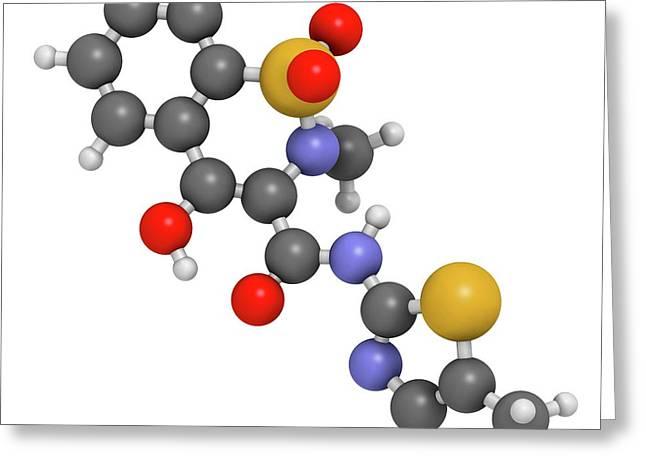 Meloxicam Nsaid Drug Molecule Greeting Card by Molekuul