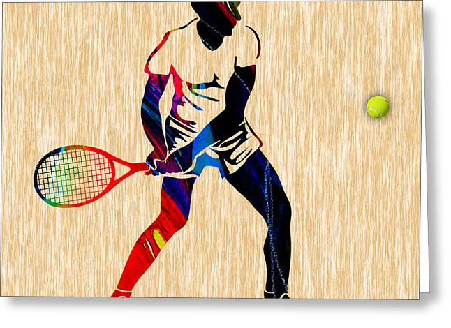 Tennis Greeting Cards - Mens Tennis Greeting Card by Marvin Blaine