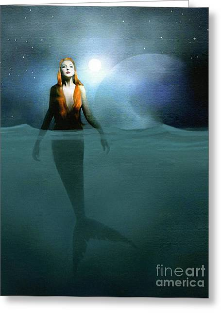Recently Sold -  - Snorkel Greeting Cards - Mermaid Greeting Card by Robert Foster