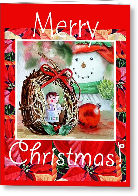 Decorated For Christmas Greeting Cards - Merry Christmas Greeting Card by Irina Sztukowski