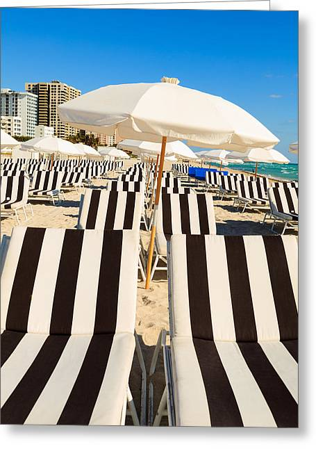 Recently Sold -  - Sand Patterns Greeting Cards - Miami Beach Greeting Card by Raul Rodriguez