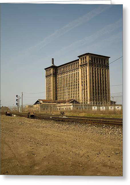 Corktown Greeting Cards - Michigan Central Station Greeting Card by Gary Marx