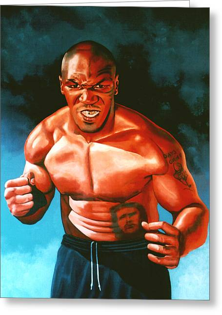 Boxing Greeting Cards - Mike Tyson Greeting Card by Paul  Meijering
