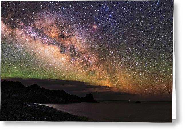 Milky Way Over La Palma Greeting Card by Babak Tafreshi