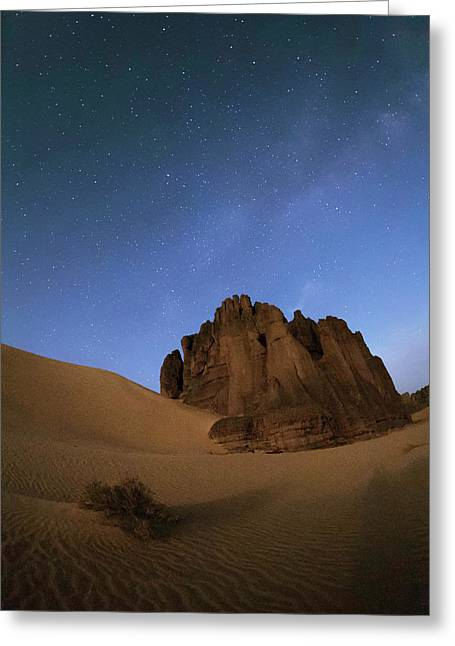 Milky Way Over The Sahara Desert Greeting Card by Babak Tafreshi