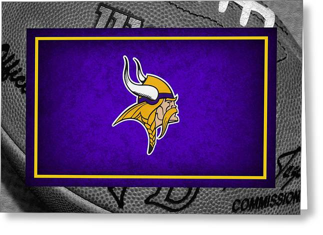 Peterson Greeting Cards - Minnesota Vikings Greeting Card by Joe Hamilton