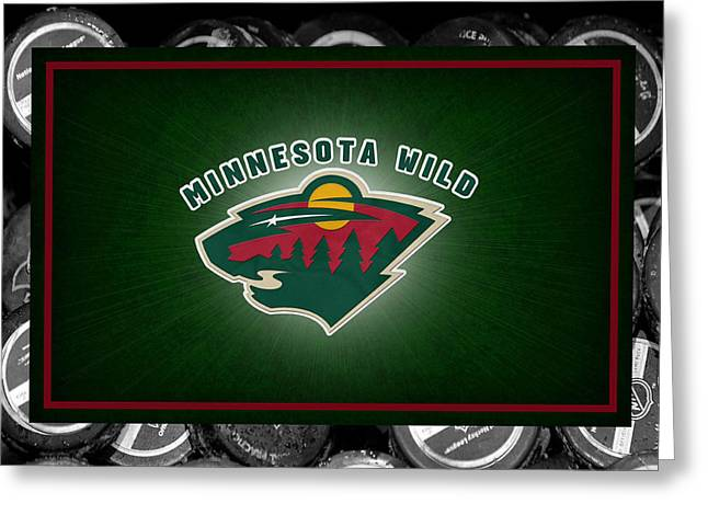 Skate Greeting Cards - Minnesota Wild Greeting Card by Joe Hamilton