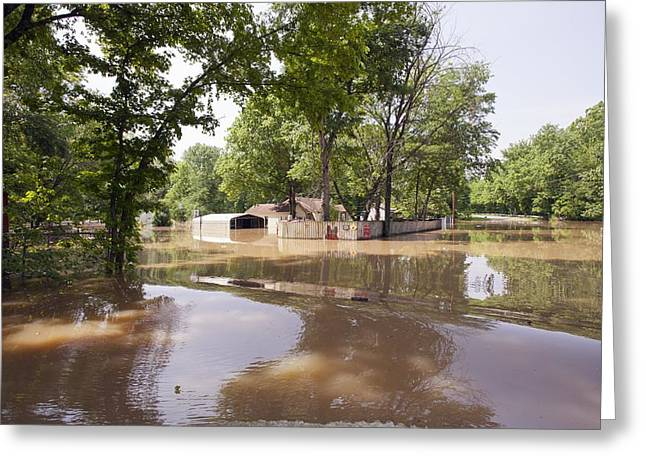 River Flooding Greeting Cards - Mississippi River floods, 2011 Greeting Card by Science Photo Library