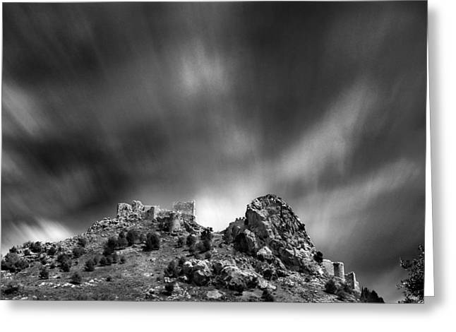 Moclin Castle Greeting Card by Guido Montanes Castillo