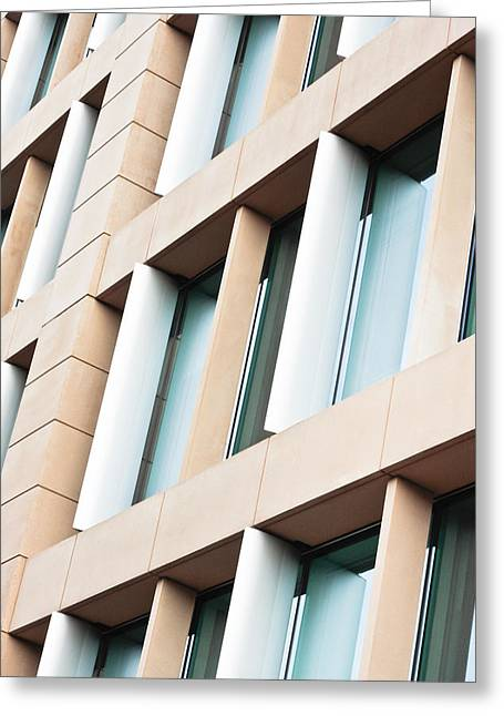 Commercial Greeting Cards - Modern building Greeting Card by Tom Gowanlock
