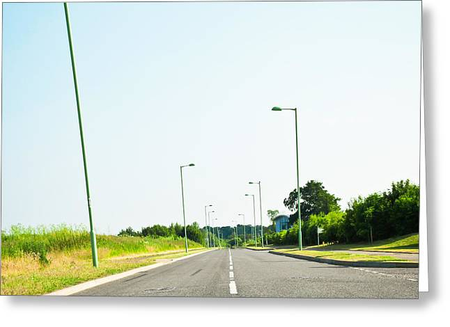 Asphalt Greeting Cards - Modern road Greeting Card by Tom Gowanlock