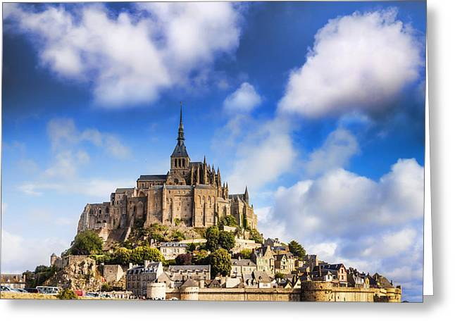 Summer Travel Greeting Cards - Mont St Michel Normandy France Greeting Card by Colin and Linda McKie