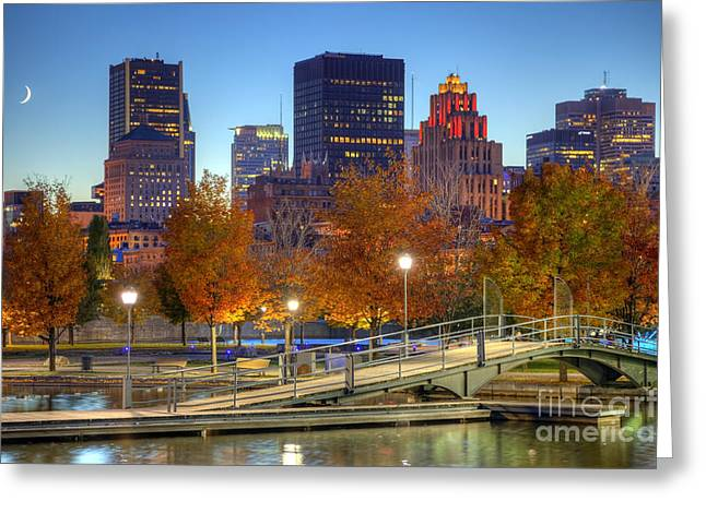 Cresent Falls Greeting Cards - Montreal Greeting Card by Denis Tangney Jr
