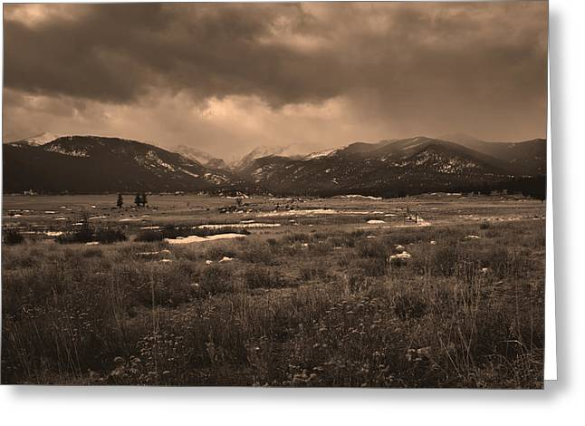 Stormy Weather Greeting Cards - Moraine Park View Colorado Greeting Card by Scott Ogle