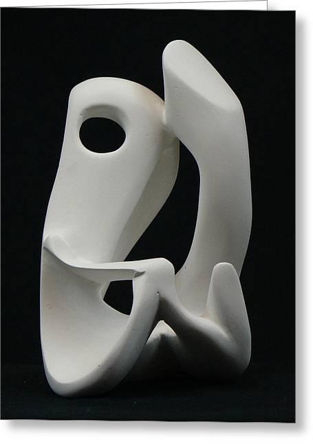 Dancing Sculptures Greeting Cards - More than dancing Greeting Card by Yusimy Lara