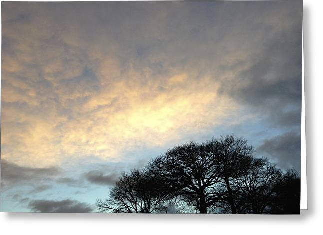 Autumn Photographs Greeting Cards - Morning sky Greeting Card by Les Cunliffe