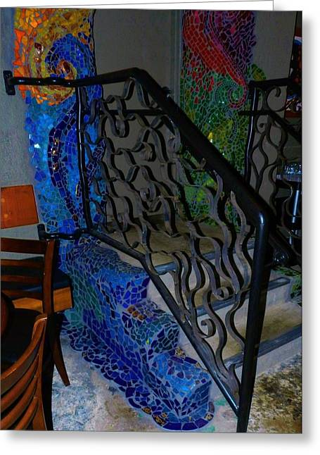 Mosaic Ceramics Greeting Cards - Mosaic Doorway Greeting Card by Charles Lucas