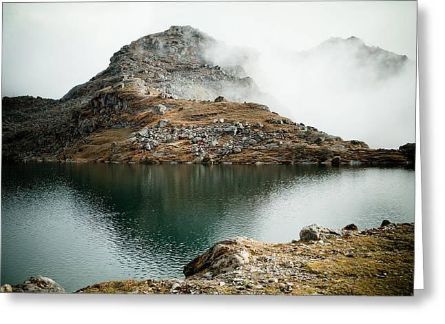 Mountain Lake Gosaikunda Himalayas Greeting Card by Raimond Klavins