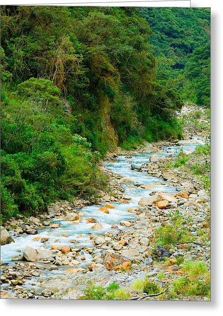 Beautiful Creek Greeting Cards - Mountain stream Greeting Card by Alexey Stiop