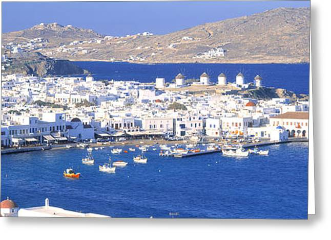 Small Towns Greeting Cards - Mykonos, Cyclades, Greece Greeting Card by Panoramic Images